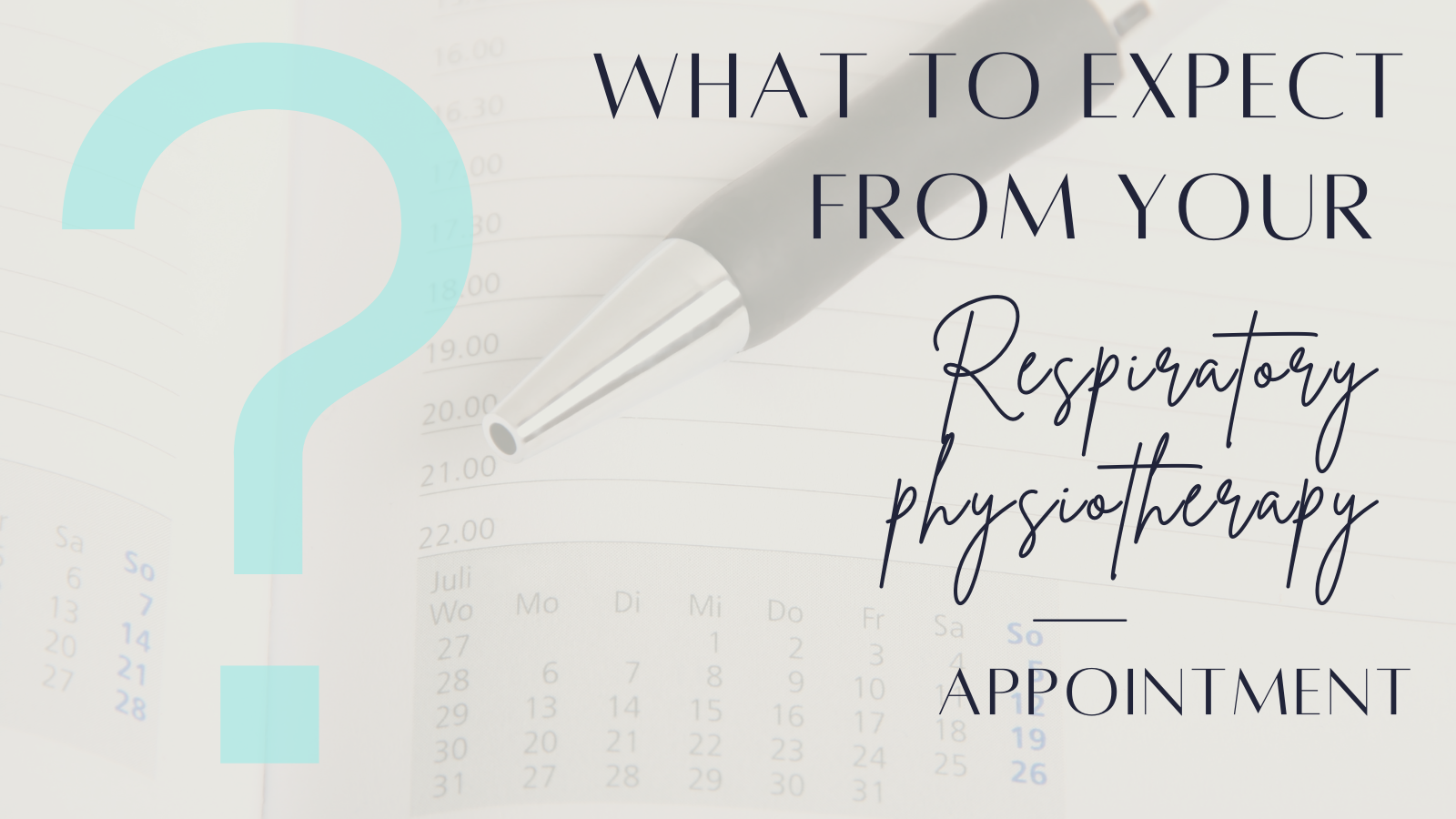 Respiratory physiotherapy appointment